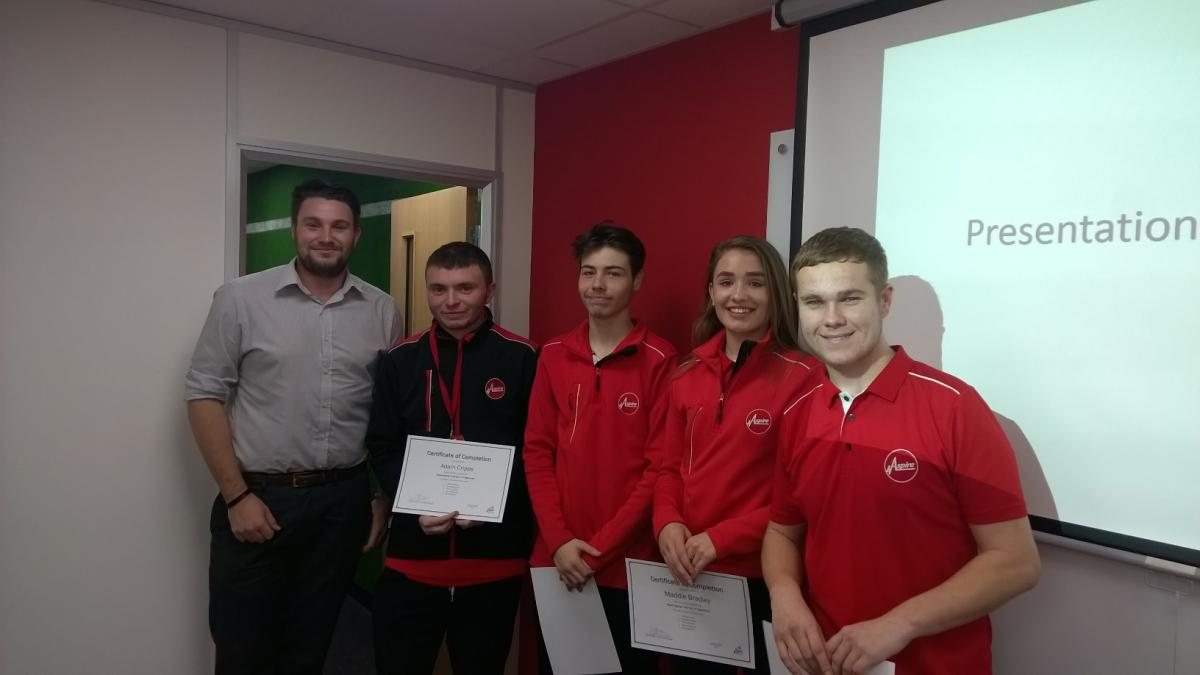 Congratulations to the people above for completing the Self Programme with Aspire Sports Trust